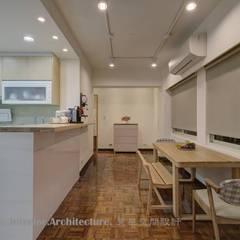 Comedores de estilo  por Hi+Design/Interior.Architecture. 寰邑空間設計