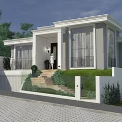 Fachada: Casas  por Atelier de Arquitetura Arquitetas Bianca e Bárbara Lehmkuhl