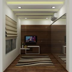 Residence at Powai:  Media room by A Design Studio