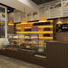 Cake Shop Modern commercial spaces by A Design Studio Modern Bricks