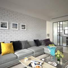 理想住宅:  客廳 by 禾御建築室內設計有限公司