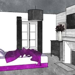 Chambre 'Campagne chic': Chambre de style  par Premières Perspectives