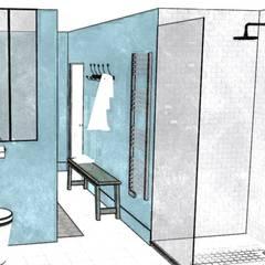 'Retro Bathroom': Salle de bains de style  par Premières Perspectives