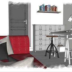 L' Atelier : Bureau de style de style Industriel par Premières Perspectives