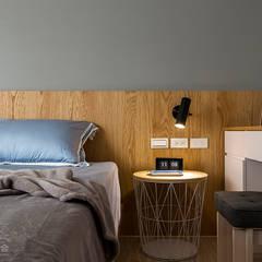 Dormitorios de estilo  por DS亦沐空間創意整合