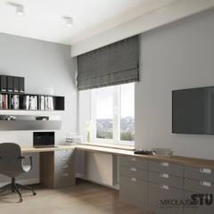 projekt domowego biura: styl , w kategorii Domowe biuro i gabinet zaprojektowany przez MIKOŁAJSKAstudio