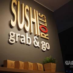 projekt logo dla Sushi Rolls Grab&Go Kraków: styl , w kategorii Bary i kluby zaprojektowany przez Kvadrat Design