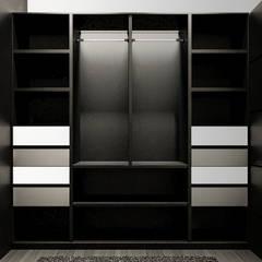 Casa Moderna BLACK&WHITE: Vestidores de estilo  por Jaime Quintero Diseño, Moderno