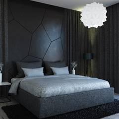 Casa Moderna BLACK&WHITE: Habitaciones de estilo  por Jaime Quintero Diseño