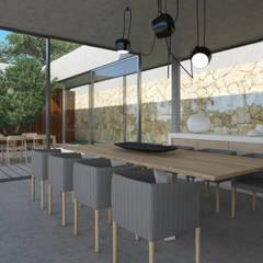 Moradia em Lagos: Salas de jantar  por Areacor, Projectos e Interiores Lda