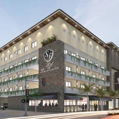 Remodelación Hotel San Francisco: Escaleras de estilo  por ARQ. ERICK OCHOA