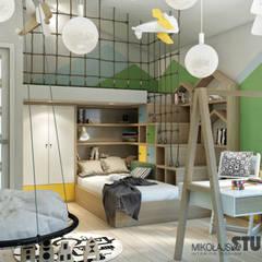 pokój dziecięcy z pomysłem: styl , w kategorii Pokój dziecięcy zaprojektowany przez MIKOŁAJSKAstudio