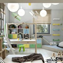 pokój dziecięcy w pastelowych kolorach: styl , w kategorii Pokój dziecięcy zaprojektowany przez MIKOŁAJSKAstudio