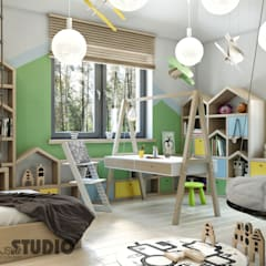 eclectic Nursery/kid's room by MIKOŁAJSKAstudio