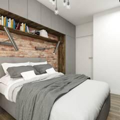 Sypialnia  stylu industrialnym: styl , w kategorii Sypialnia zaprojektowany przez MONOstudio