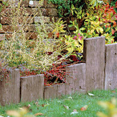 Travessa Teca para criar pequenas divisões: Jardins  por Fabistone