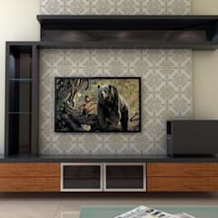 TV Unit:  Living room by FORTUNE DECOR