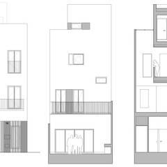 Casa CC: Casas de estilo  de diecisietemastres · procesos de arquitectura, diseño e identidad