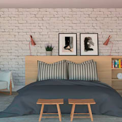 Dormitorios de estilo  por Patrícia Nobre - Arquitetura de Interiores