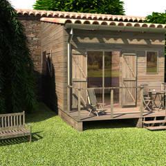 Image 3D de la vue d'extérieur.: Maisons de style de style Classique par lateralis