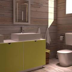 Maisonnette de jardin.: Salle de bains de style  par lateralis