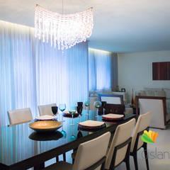 Sala de Estar e Jantar - Cliente N&D - Gutierres: Salas de jantar  por Gislane Lima - Interior Design