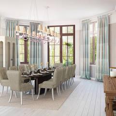 Дом, в котором живёт счастье: Столовые комнаты в . Автор – дизайн-студия ПРОСТРАНСТВО ДИЗАЙНА,