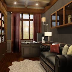 Дом, в котором живёт счастье: Рабочие кабинеты в . Автор – дизайн-студия ПРОСТРАНСТВО ДИЗАЙНА