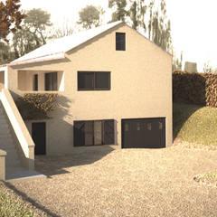 3D de la maison actuelle: Maisons de style de style Classique par lateralis