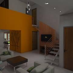 Living: Livings de estilo  por Gastón Blanco Arquitecto