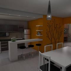 Comedor - Cocina: Comedores de estilo  por Gastón Blanco Arquitecto