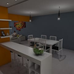 Cocina - Comedor: Cocinas de estilo ecléctico por Gastón Blanco Arquitecto
