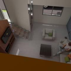 Vista Superior Living: Livings de estilo  por Gastón Blanco Arquitecto