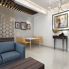 Dining area:  Dining room by The inside stories - by Minal
