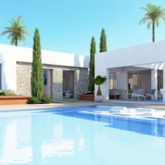 New Build Javea - Villa Tara توسط Blue Square Real Estate مدیترانه ای کاشی