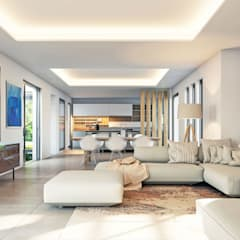 New Build Javea - Villa Tara:  Living room by Blue Square Real Estate