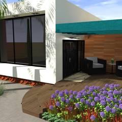 Vivienda Unifamiliar: Salas / recibidores de estilo  por N.A. ARQUITECTURA, Moderno Madera Acabado en madera