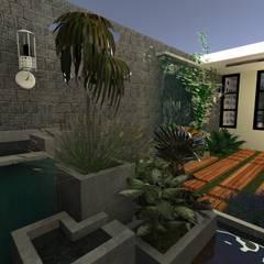Vivienda Unifamiliar: Jardines de estilo  por N.A. ARQUITECTURA