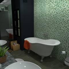 Vivienda Unifamiliar: Baños de estilo  por N.A. ARQUITECTURA