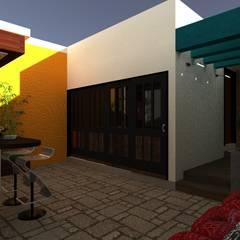 Vivienda Unifamiliar: Terrazas de estilo  por N.A. ARQUITECTURA