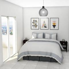 DORMITORIO: Dormitorios de estilo moderno por JACH
