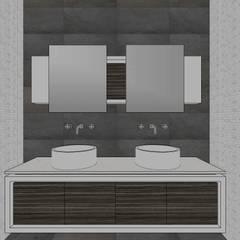 Apto. N°1. baño compartido: Baños de estilo  por MARATEA Estudio