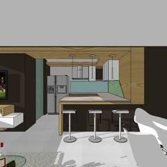 Edificio Multifamiliar: Cocinas de estilo  por MARATEA Estudio,