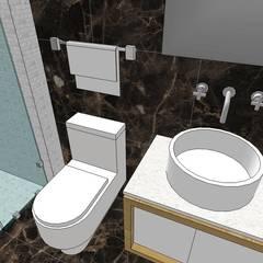 Apto. N°2. Baño habitación principal: Baños de estilo  por MARATEA Estudio