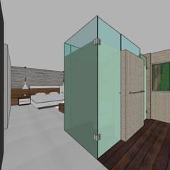 Apto. N°5. baño habitación principal: Baños de estilo  por MARATEA Estudio