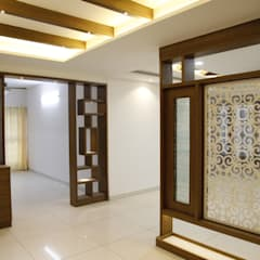 Complete 3 BHK Apartment Interiors in B-4, 304, Laa MoonStone, Bangalore:  Living room by Scale Inch Pvt. Ltd.