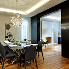 Dining Room with Doors Open: modern Dining room by Douglas Design Studio