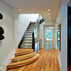 Modern Retreat:  Corridor & hallway by Douglas Design Studio,Modern
