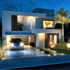CONDOMINIO RESIDENCIAL : Casas minimalistas por daniel villela arquitetura