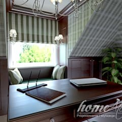 Francuski poranek: styl , w kategorii Domowe biuro i gabinet zaprojektowany przez Home Atelier